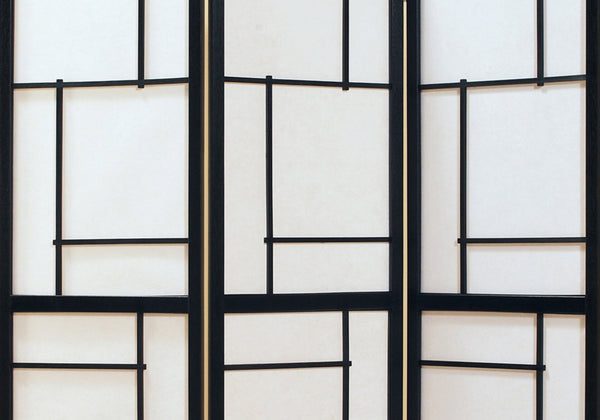 Folding Screen - 3 Panel / Black Frame
