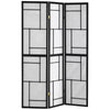 Monarch Specialties I 4627 Folding Screen - 3 Panel / Black Frame 021032200299