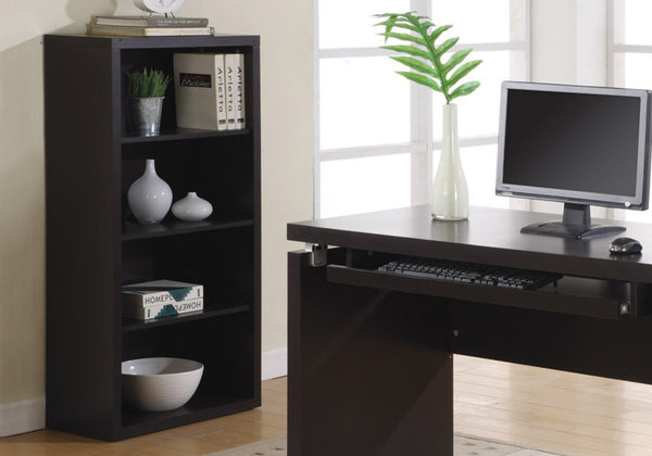 "Bookcase - 48""H / Cappuccino With Adjustable Shelves"