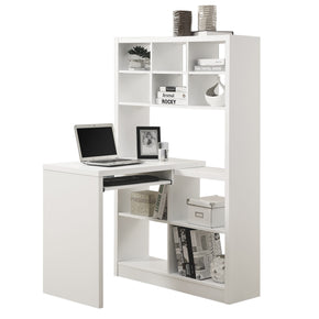 Monarch Specialties I 7022 Computer Desk - White Left Or Right Facing Corner 021032258412