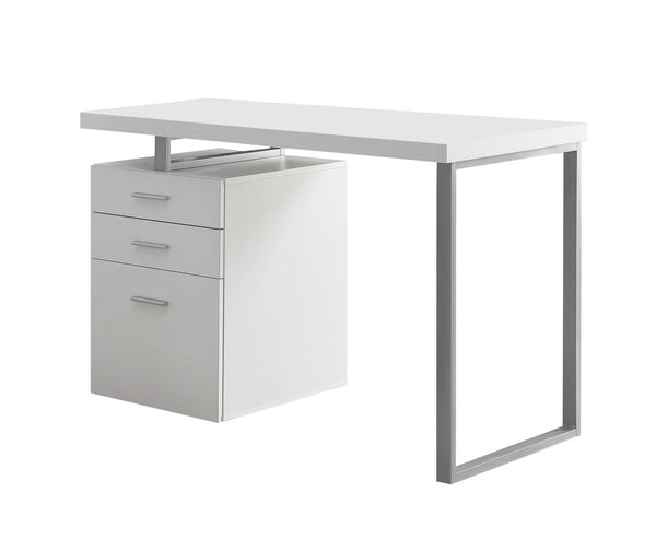 "Monarch Specialties I 7027 Computer Desk - 48""L / White Left Or Right Facing  021032258368"