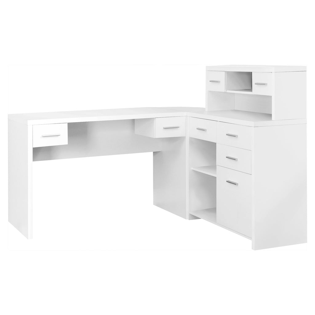 Monarch Specialties I 7028 Computer Desk - White Left Or Right Facing Corner 021032287856