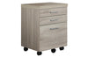 Monarch Specialties I 7050 Filing Cabinet - 3 Drawer / Natural On Castors 878218001238