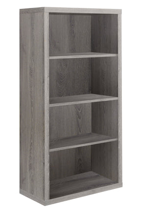 "Monarch Specialties I 7060 Bookcase - 48""H / Dark Taupe With Adjustable Shelves 878218001283"