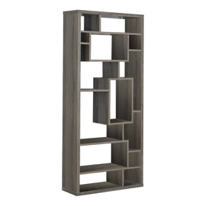 "Monarch Specialties I 7072 Bookcase - 72""H / Dark Taupe  878218001351"
