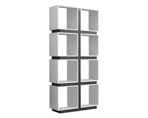 "Monarch Specialties I 7076 Bookcase - 71""H / White / Grey  878218001382"