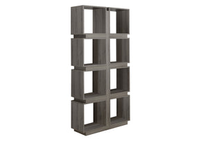 "Monarch Specialties I 7078 Bookcase - 71""H / Dark Taupe  878218001405"