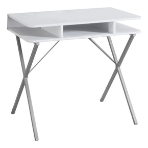 "Monarch Specialties I 7100 Computer Desk - 31""L / White Top / Silver Metal 878218006738"