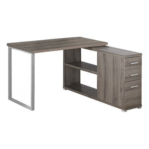 Monarch Specialties I 7134 Computer Desk - Dark Taupe Left Or Right Facing Corner 878218005366