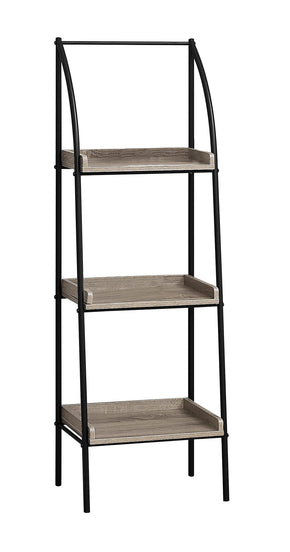 "Monarch Specialties I 7228 Bookcase - 48""H / Dark Taupe / Black Metal 680796000646"
