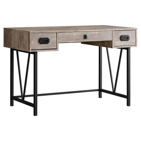 "Monarch Specialties I 7414 Computer Desk - 48""L / Taupe Reclaimed Wood / Black Metal 680796013011"