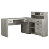 Monarch Specialties I 7428 Computer Desk - Grey Reclaimed Wood L/R Facing Corner 680796013097