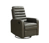 Monarch Specialties I 8086GY Reclining Chair - Swivel Glider / Charcoal Grey Pu 878218001832