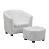 Juvenile Chair - 2 Pcs Set / White Leather-Look Fabric