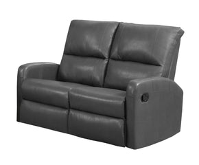 Monarch Specialties I 84GY-2 Reclining-Loveseat Charcoal Grey Bonded Leather 878218008718