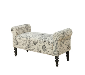 "Monarch Specialties I 8915 Bench - 44""L / Traditional Style Vintage French Fabric 878218007728"