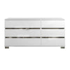 Icon Double Dresser White High Gloss, Chrome Foil Trim