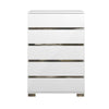 Icon High Chest White High Gloss, Chrome Foil Trim