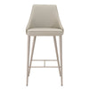 Bar Chairs - Star International Furniture 1618BS.SYN.LGRY Ivy Barstool Light Grey Synthetic, Brushed Stainless Steel | 842279100582 | Only $319.00. Buy today at http://www.contemporaryfurniturewarehouse.com