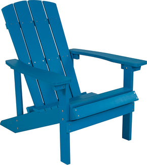 Flash Furniture JJ-C14501-BLU-GG Charlestown All-Weather Adirondack Chair in Blue Faux Wood 889142409922