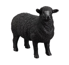 Moe's Home Collection JT-1002-02 Dolly Sheep Statue Black Black