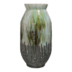 Moe's Home Collection JY-1002-16 Lindemann Ceramic Vase Green