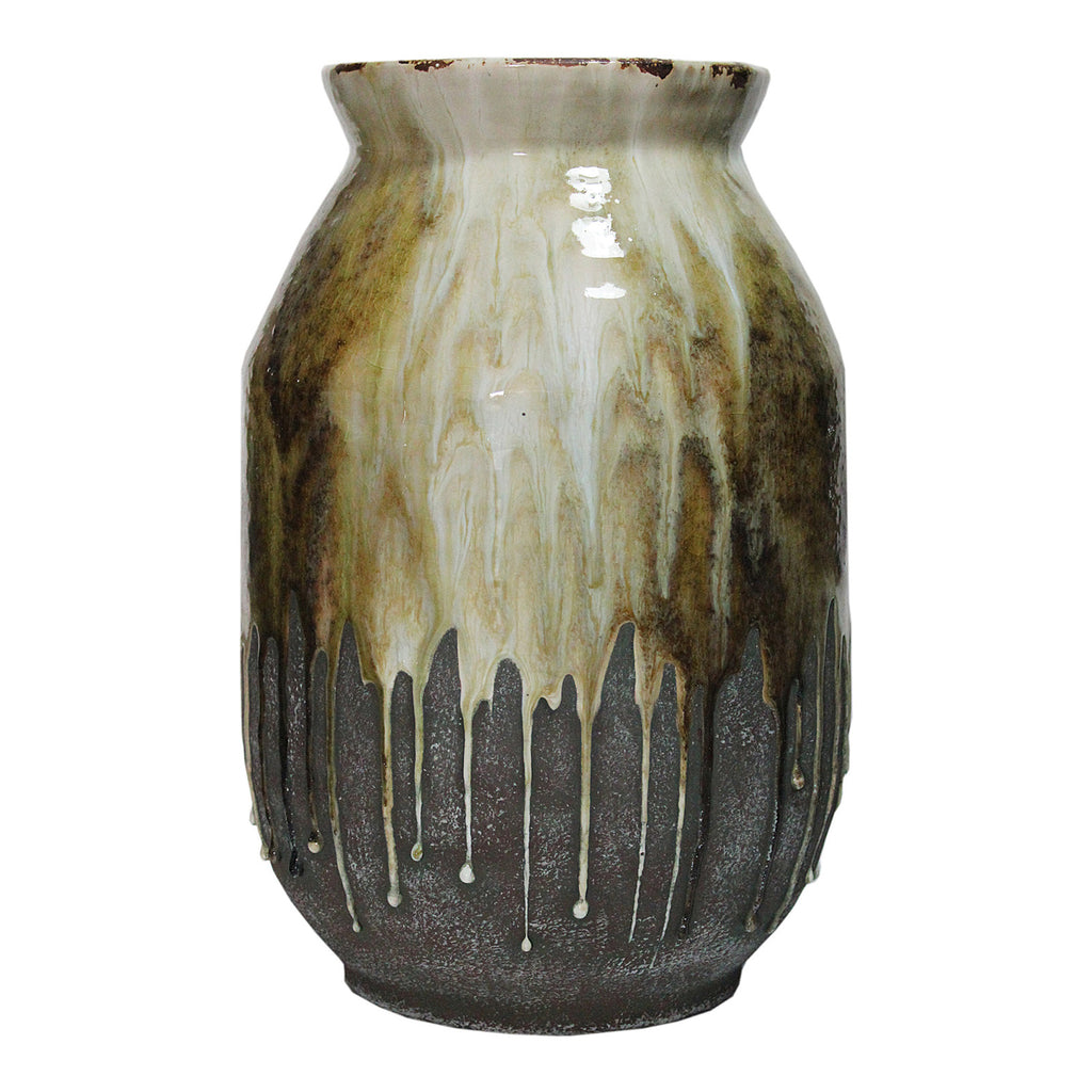 Moe's Home Collection JY-1003-09 Born Ceramic Vase Amber