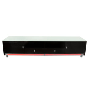 Diamond Sofa K99TVBL K99 83 Inch Low Profile Entertainment Cabinet in Black Lacquer Finish w/ RGB Multi-Color Accent Light