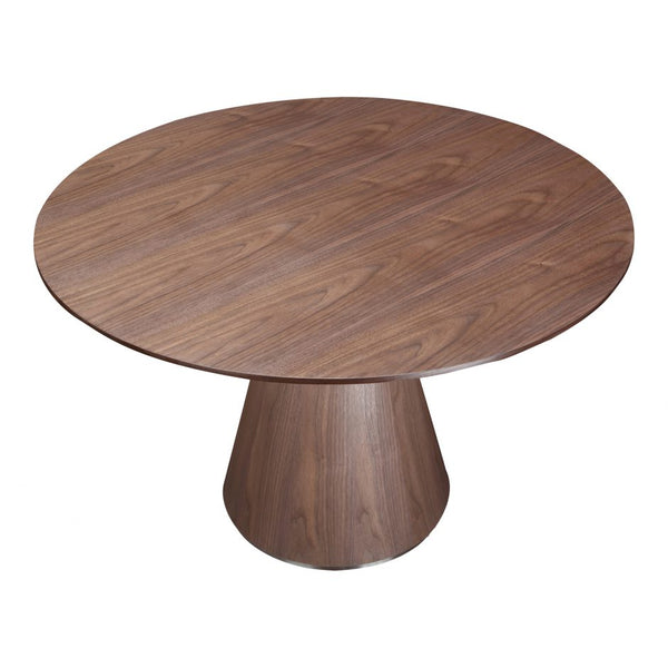 Otago Contemporary Round Natural Walnut Dining Table 47\