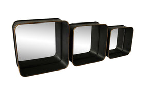Moe's Home Collection KK-1002-02 Azo Shadow Mirrors Set Of 3 Black