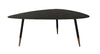 Bruno Industrial Style Coffee Table Black With Gold Tipped Legs And Edges