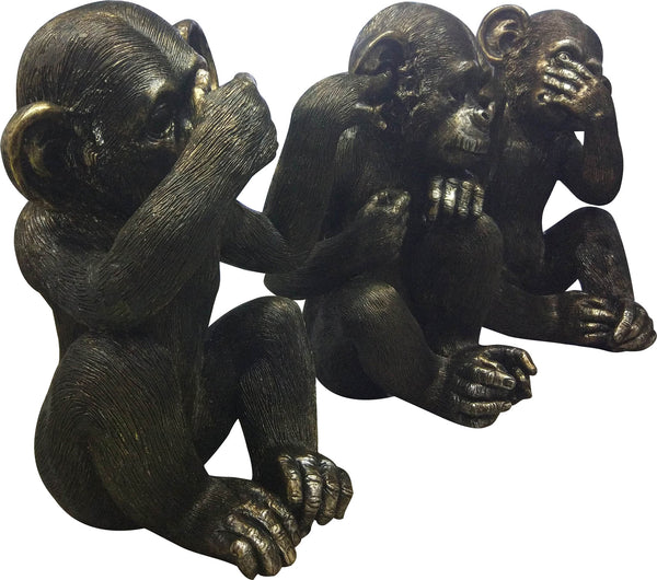He Did It Chimps Set Of 3 Transitional Black