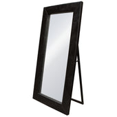 Diamond Sofa LUXEMIBLCR Luxe Free-Standing Mirror w/ Locking Easel Mechanism in Black Croc PU