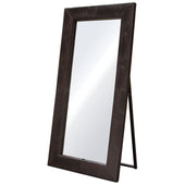 Diamond Sofa LUXEMIBRCR Luxe Free-Standing Mirror w/ Locking Easel Mechanism in Brown Croc PU