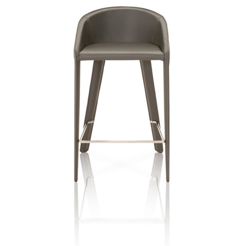 Star International Furniture 1628CS.SHA Logan Counterstool Shadow Bonded Leather, Shadow Edge