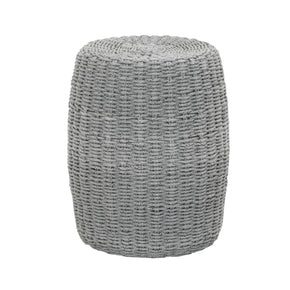 Orient Express Furniture 6818.PLA Loom Accent Table Platinum Rope