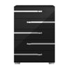 Lustro High Chest Black High Gloss, Chrome Foil Trim