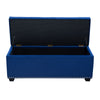 Majestic Tufted Velvet Lift-Top Storage Trunk w/ Nail Head Accent - Royal Blue Velvet
