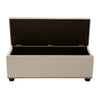 Majestic Tufted Velvet Lift-Top Storage Trunk w/ Nail Head Accent - Tan Velvet
