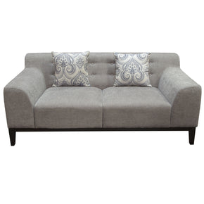 Loveseats - Diamond Sofa MARQUEELOMS Marquee Tufted Back Loveseat in Moonstone Fabric with Accent Pillows | 641427617671 | Only $1049.00. Buy today at http://www.contemporaryfurniturewarehouse.com