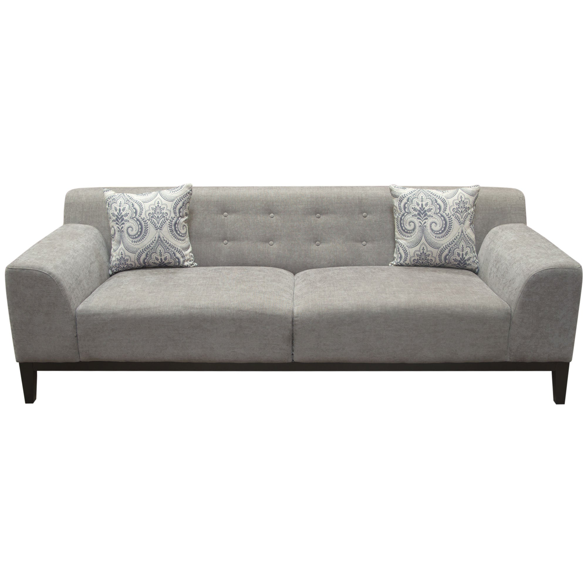 Diamond sofa marqueesoms marquee tufted back sofa in moonstone fabric with accent pillows