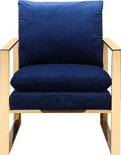 Moe's Home Collection ME-1037-26 Garfield Arm Chair Blue Contemporary Modern Blue