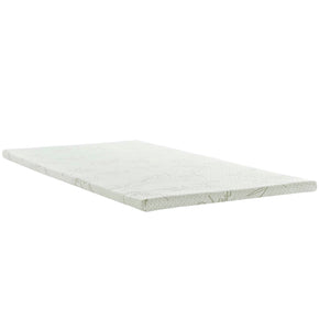 "Modway MOD-5571-WHI Relax Twin 2"" Gel Memory Foam Mattress Topper White"