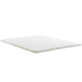 "Modway MOD-5574-WHI Relax King 2"" Gel Memory Foam Mattress Topper White"