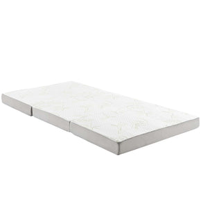 Mattresses - Modway MOD-5783-WHI Relax 39 x 80 x 4 (Twin XL) Tri-Fold Mattress | 889654106852 | Only $86.50. Buy today at http://www.contemporaryfurniturewarehouse.com