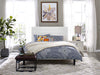 Paisley Tufted King and California King Upholstered Faux Leather Headboard