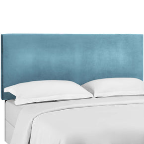 Modway MOD-5875-SEA Taylor Twin Upholstered Performance Velvet Headboard Sea Blue