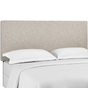 Modway MOD-5883-BEI Taylor King and California King Upholstered Linen Fabric Headboard Beige