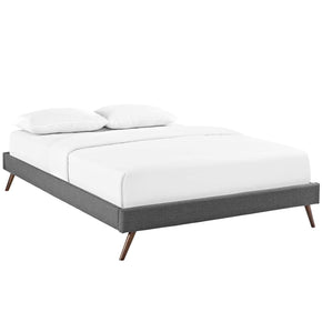 Beds - Modway MOD-5889-GRY Loryn Fabric Full Bed Frame with Round Splayed Legs | 889654020813 | Only $125.00. Buy today at http://www.contemporaryfurniturewarehouse.com