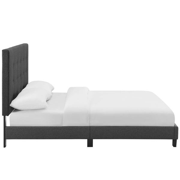 Beds - Modway MOD-5994-AZU Melanie King Tufted Button Upholstered Fabric Platform Bed | 889654131984 | Only $281.05. Buy today at http://www.contemporaryfurniturewarehouse.com